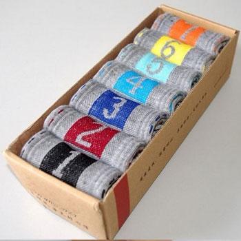 灰色款星期袜批发 男款 七天袜 七日袜 7日袜 盒装